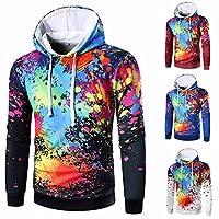Hot Sales!! ZOMUSA Men's Long Sleeve Galaxy Pockets 3d Pullover Hoodie Hooded Sweatshirts Hoodies