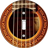 Acoustic Guitar novelty hardboard light switch cover for single lightswitch