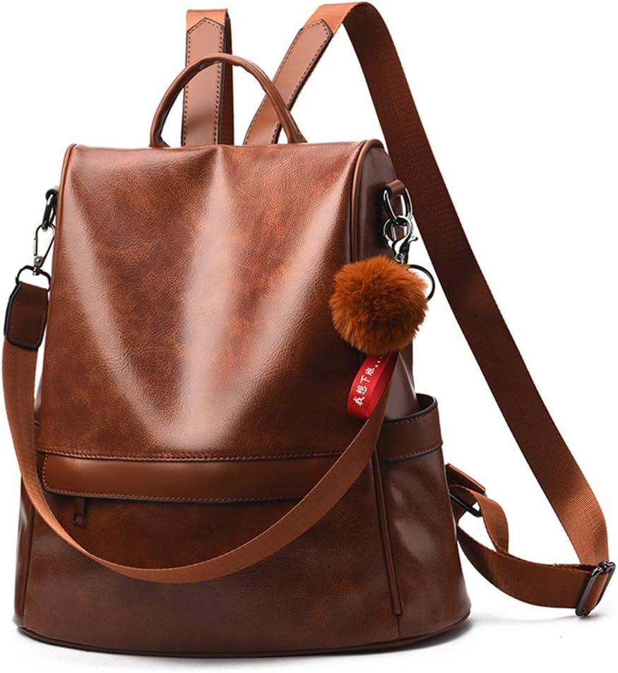 Yearkala Women Backpack Purse PU Leather Anti-Theft Casual Shoulder Bag Fashion Ladies Satchel School Bag