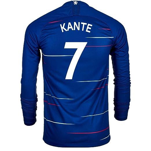 buy popular aaead 62d14 Amazon.com: Nike KANTE #7 Chelsea FC Home Men's Long Sleeve ...