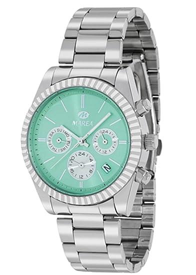 Reloj Marea Mujer B41155/4 Metálico Multifunción Verde Agua: Amazon.es: Relojes