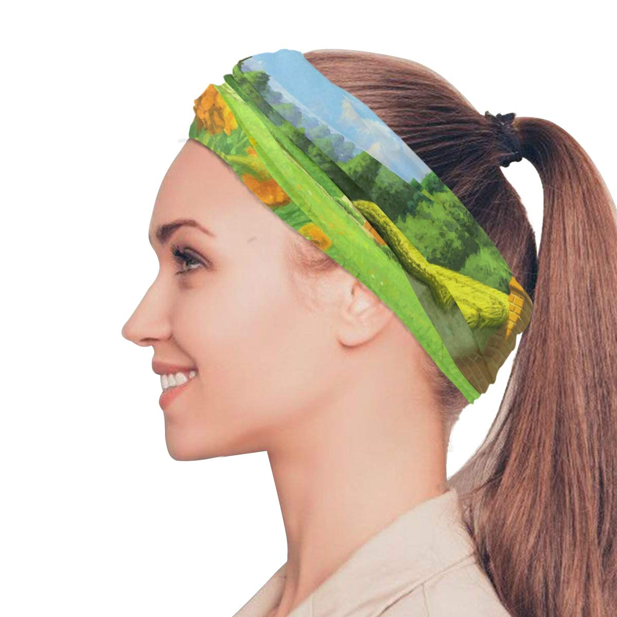 Magic Headwear Fantasy Landscape Outdoor Scarf Headbands Bandana Mask Neck Gaiter Head Wrap Mask Sweatband