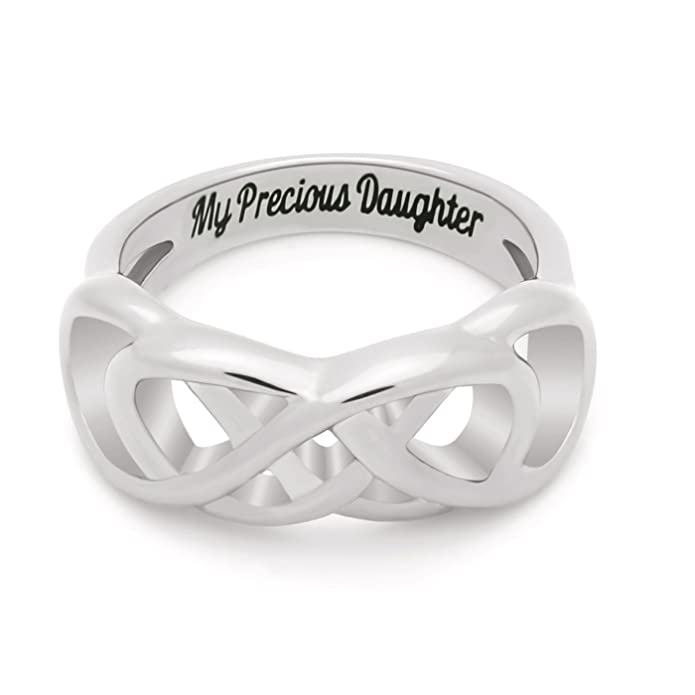 Amazon Double Infinity Daughter Ring Silver Plated Base