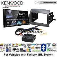 Volunteer Audio Kenwood DMX7704S Double Din Radio Install Kit with Apple CarPlay Android Auto Bluetooth Fits 2004-2010 Toyota Sienna with Amplified System