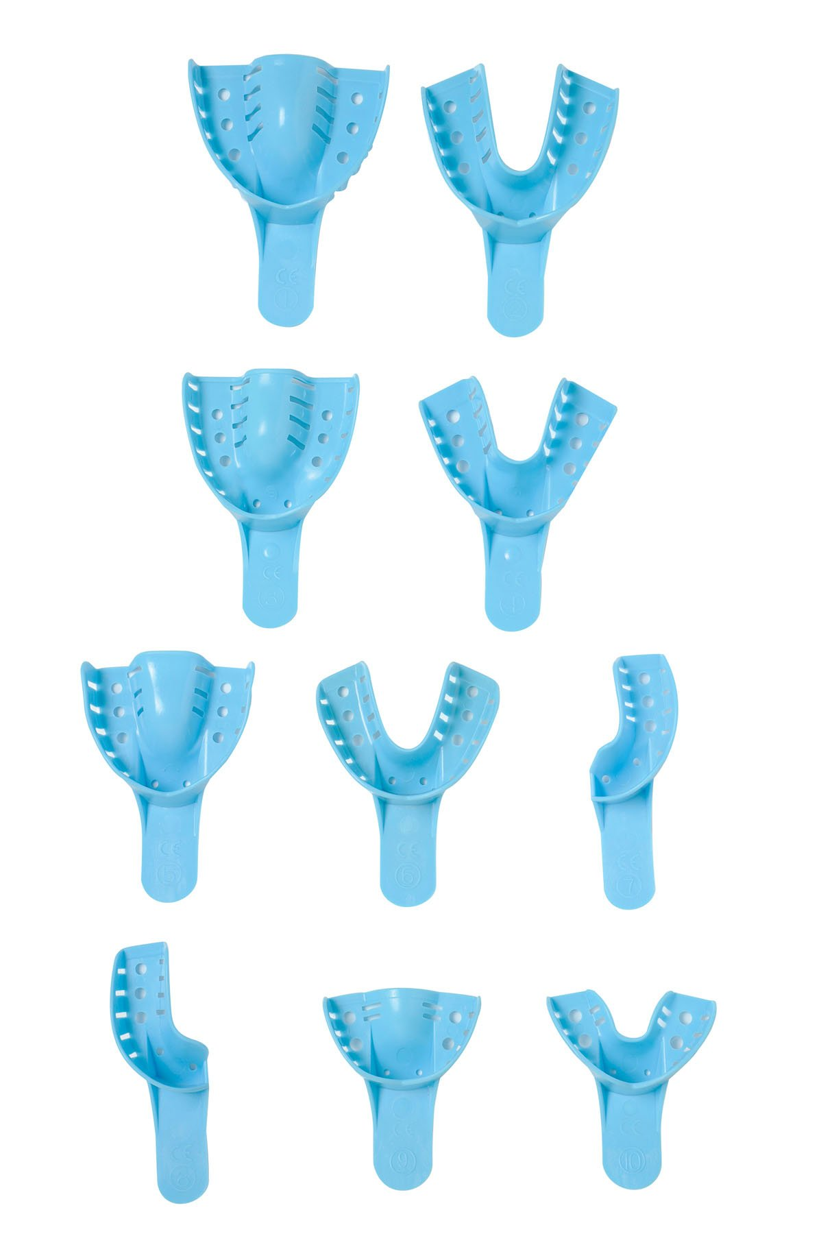 Primo Dental Products ITP10 Disp Impression Trays, Lower Anterior, 10 Perforated (Pack of 12)