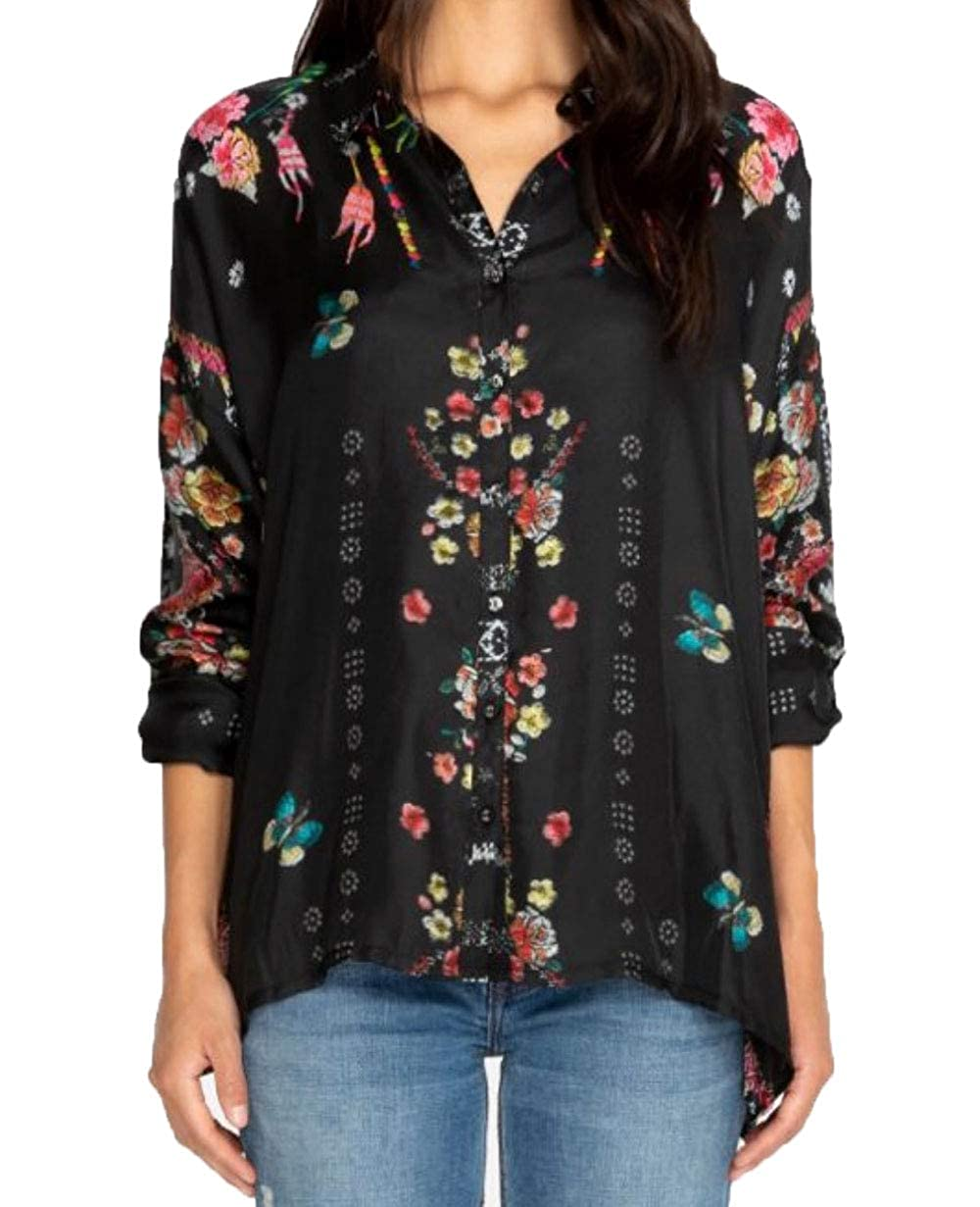 Multi a Johnny Was Women's Feza Boxy Button Down