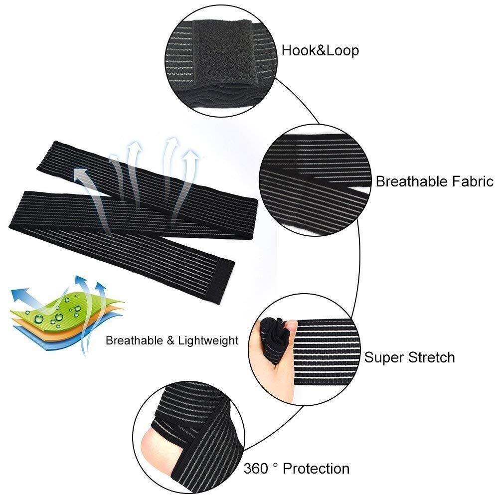 Protection Sport Accessoires Soutien-gorge de contention de compression de bandage de soutien de genou de soutien de cuisse de genou de soutien de cuisse de soutien-gorge de Respirant /élasticit/é noir
