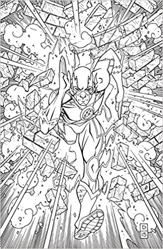 The Flash An Adult Coloring Book DC Various 9781401270063 Amazon Books
