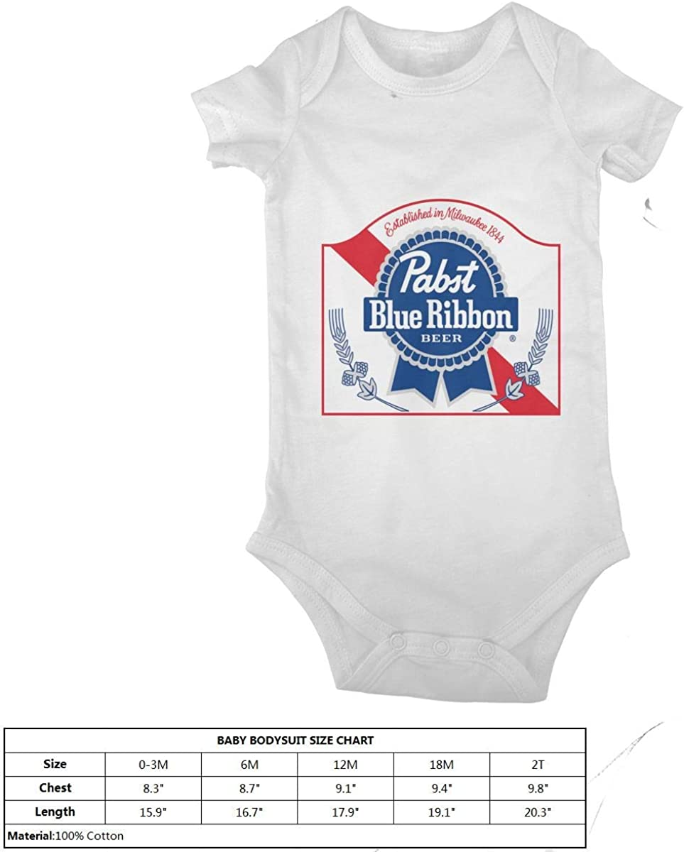 Baby T Shirts Pabst Blue Ribbon Beer Logo Infant Short Sleeve Top