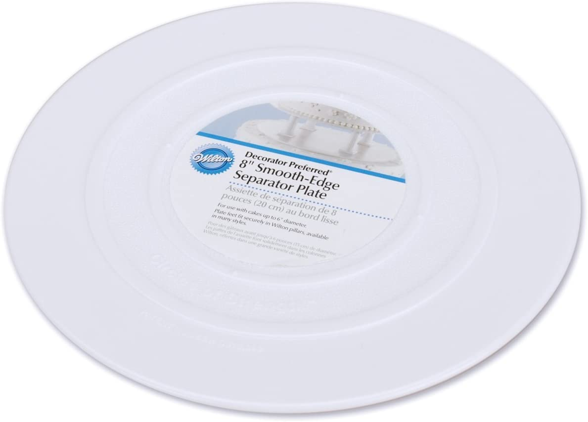 Wilton Smooth Edge Separator Plate for Cakes, 8-Inch