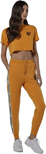 Sik Silk Pantalon Chandal Mujer Mostaza Jogger Runner: Amazon ...