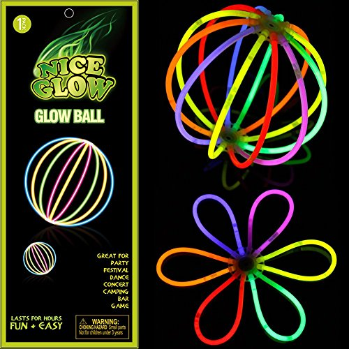 Glow Balls Flower Party Favor Pack Light Up Glowing DIY Toy for Kids Adults At Parties Clubs Christmas Holiday