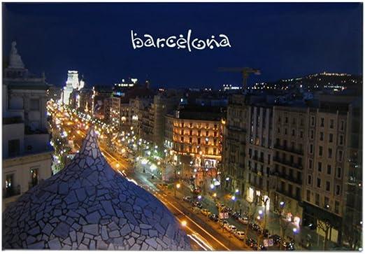 Barcelona de noche imán del rectángulo CafePress - estándar Multi ...