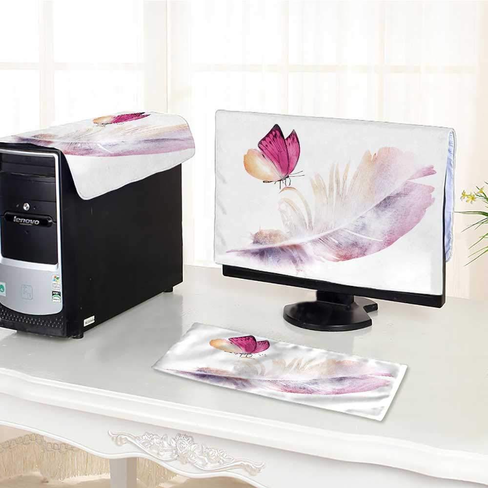 UHOO2018 キーボードダストカバー コンピューター フラモ サマーデコレーション ラップ用プリント 壁紙 ファブリック カード ベクター コンピューターダストカバー 17インチ用 W29