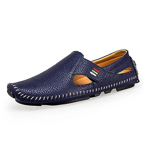 AARDIMI - Pantuflas y Mocasines de Caucho Hombre, Color Azul, Talla 38 EU