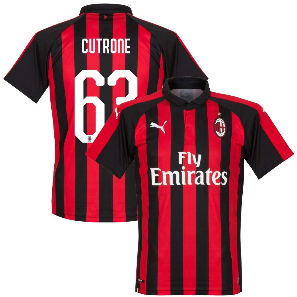 AC Milan Home Trikot 2018 2019 + Cutrone 63