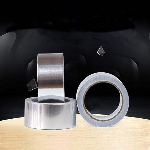 Sweet48 Aluminiumfolienband hitzebest/ändiges Klebeband Rohrbruch DIY selbstklebende Aluminiumfolie Fensterbankfugen Oberfl/ächenrisse wasserdichtes Klebeband f/ür Dachleck
