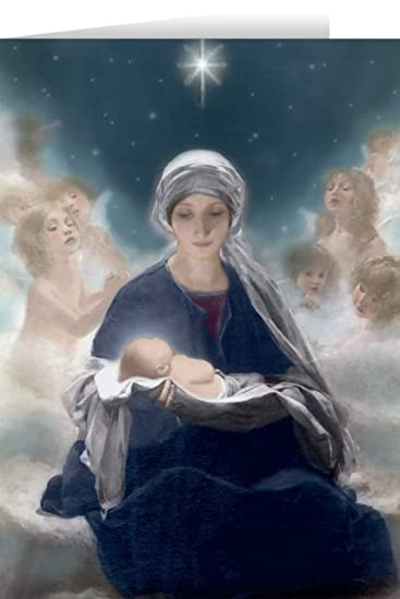 Beautiful Religious Christmas Cards.Amazon Com Star Of Bethlehem Christmas Cards 25 Cards