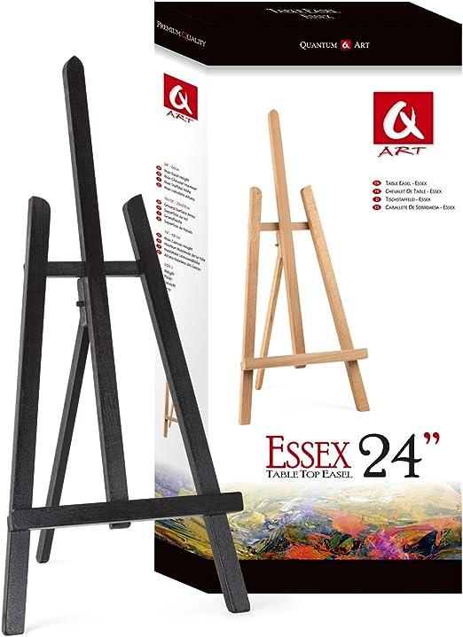Quantum Art Essex - Caballete de Mesa (Madera, 600 mm), Negro, for ...