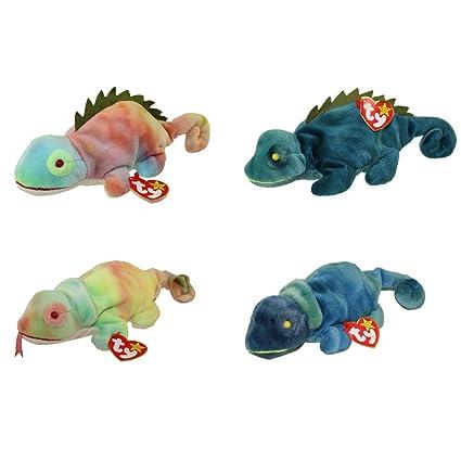 amazon com ty beanie baby iggy the iguana and rainbow the