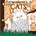 Decorative Cats: Stress Relieving Adult Colouring Book: Gifts for Mum, Dad, Men and Women