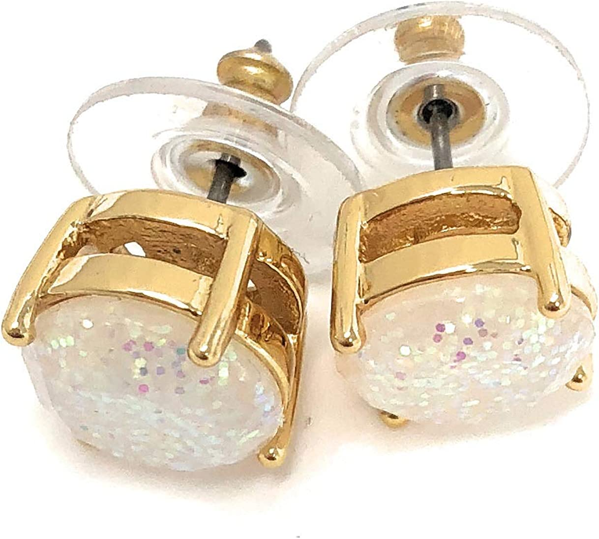 Amazon Com Kate Spade Glitter Round Opaque Earrings Jewelry