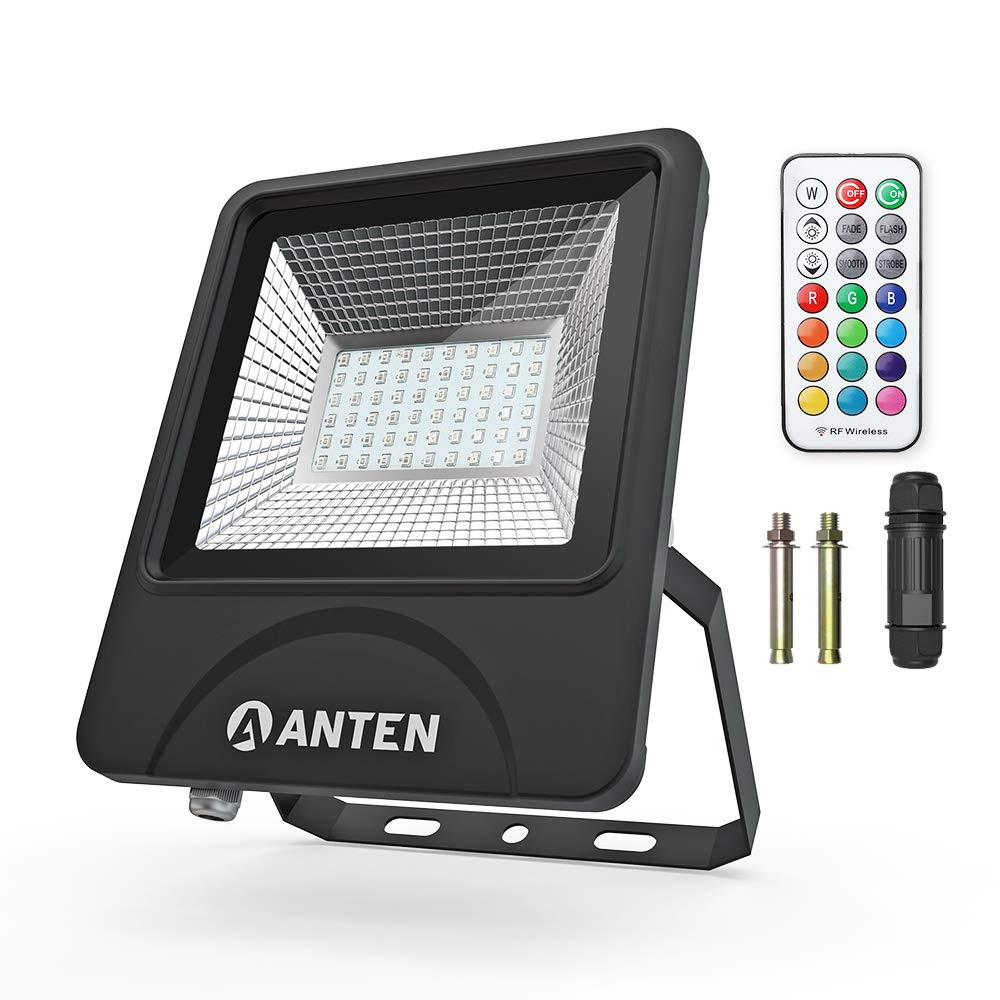 Anten 50W Foco Proyector Led Regulable, RGBW 13-Color Foco Led ...