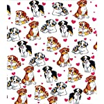 BlessLiving Red Hearts Dog Cat Print Plush Blanket Cute Puppy for Kids Adults 3D Animal Print Plush Blanket Gift for Pet Lovers (Australian Shepherd,Throw, 50 x 60 Inches) 6