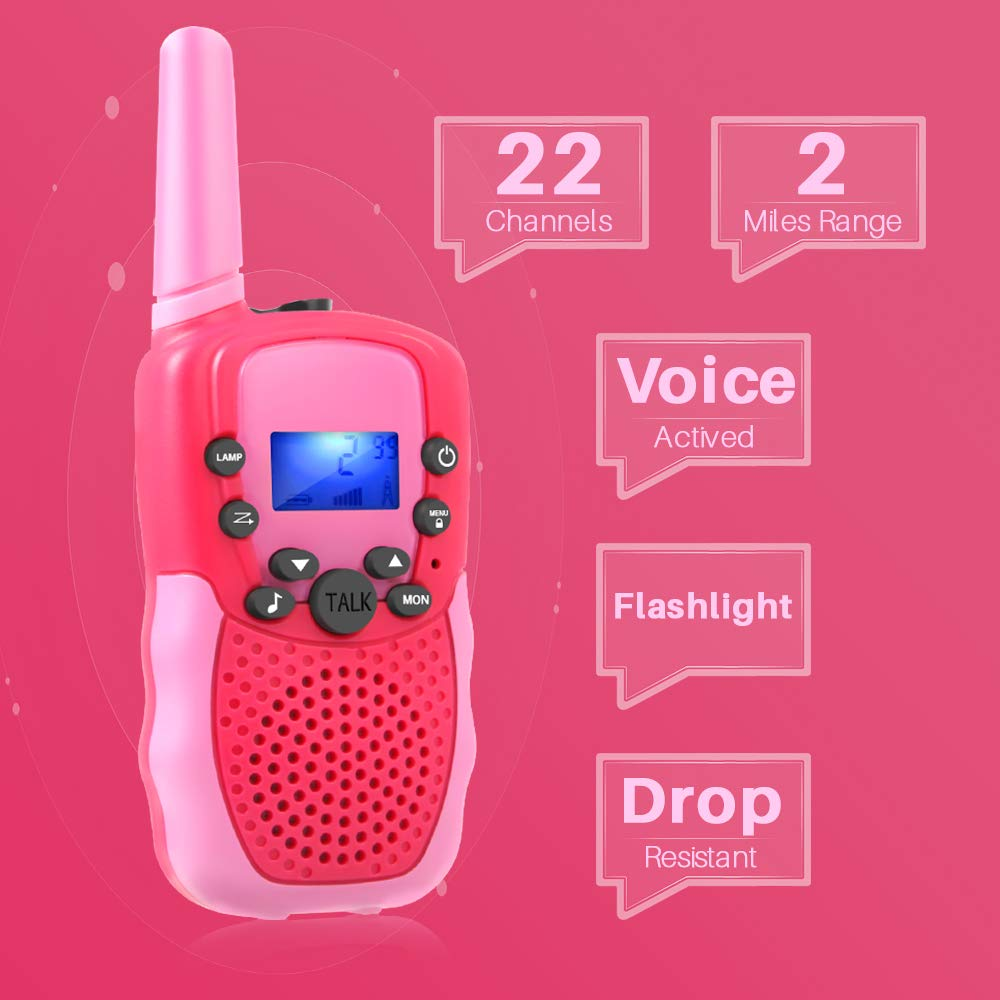 OMWay Outdoor Toys for Toddlers Age 3-5, Kids Walkie Talkies for Girls Age 3-8,2 Way Radio Walkie Talkies,3-12 Year Old Boys Girls Birthday Gifts. by OMWay (Image #2)
