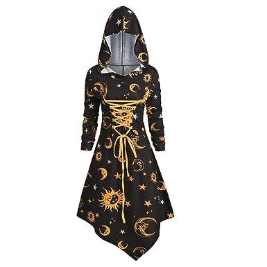 Vestido Vintage con Capucha para Mujer, Estilo Medieval, Retro ...