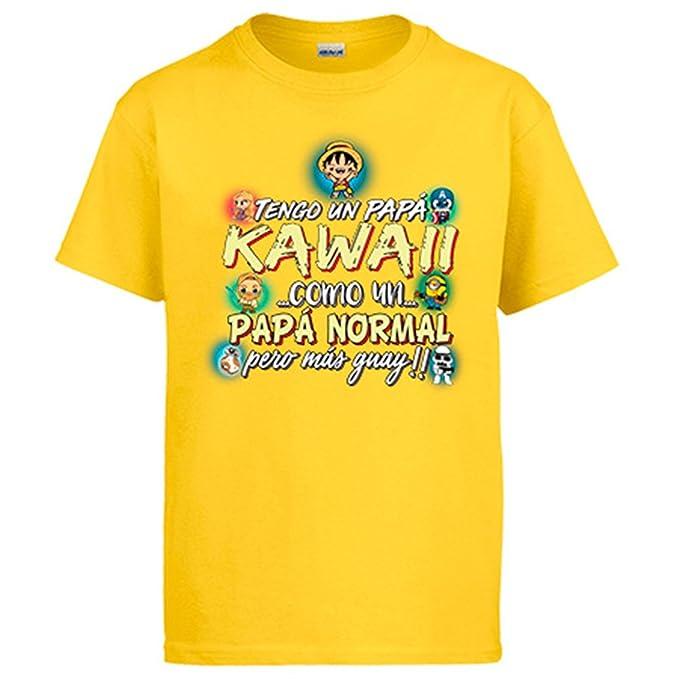 Diver Camisetas Camiseta Tengo Un Papá Kawaii Como Un Papá Normal Pero Más Guay: Amazon.es: Ropa y accesorios