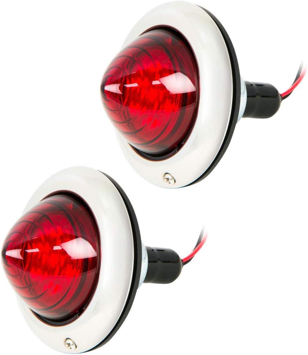 Custom Truck Hot Rat Street Rod LED Tail Lamp Lights Flush Mount Stop Turn Pair