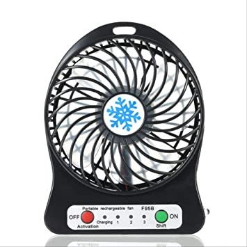 Mini Ventilador luz LED portátil Mini Oficina USB Air Cooler ...