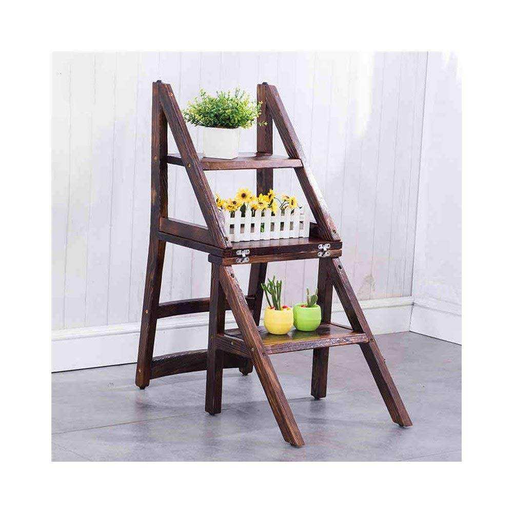 ステップラダーLQQGXL ホーム折り畳み式の階段の椅子、多機能の二段階のスツール、木製のはしご、キッチンはしごの便。 B07RB5F1DY