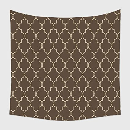 Home Decor Tapestry Wall Hanging Seamless Moroccan Trellis Pattern For Bedroom Living Room Dorm