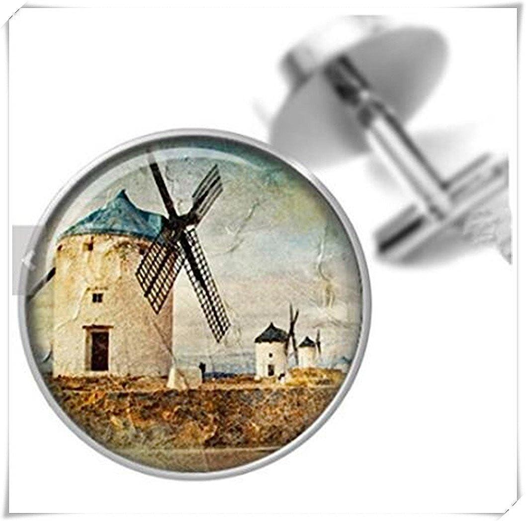 Cufflinks Retro Windmills Cuff Links for Dads Fathers Men CX28