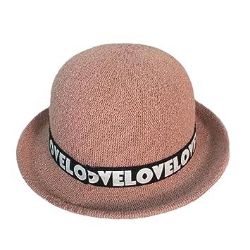 Sombrero elegante gorro de invierno sombrero bombín sombrero de ancho ala  sombrero para niña N  Amazon.es  Deportes y aire libre a3fb7998f43