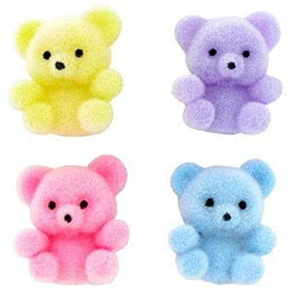 amazon com miniature assorted pastel flocked teddy bears home