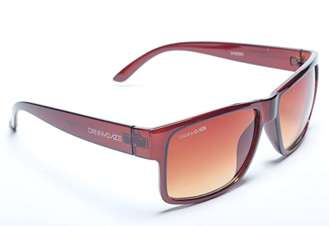 558ae73b9a Image Unavailable. Image not available for. Colour  Danny Daze D-1511-C3  Brown Rockstar Men Wayfarer Sunglass