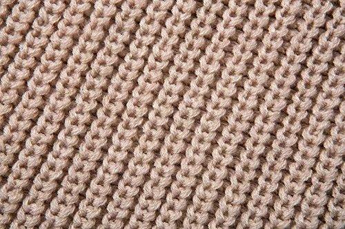 Abrigo de mujer salvaje hombro de la salida sólido suéter jersey nueva caída de la moda Beige