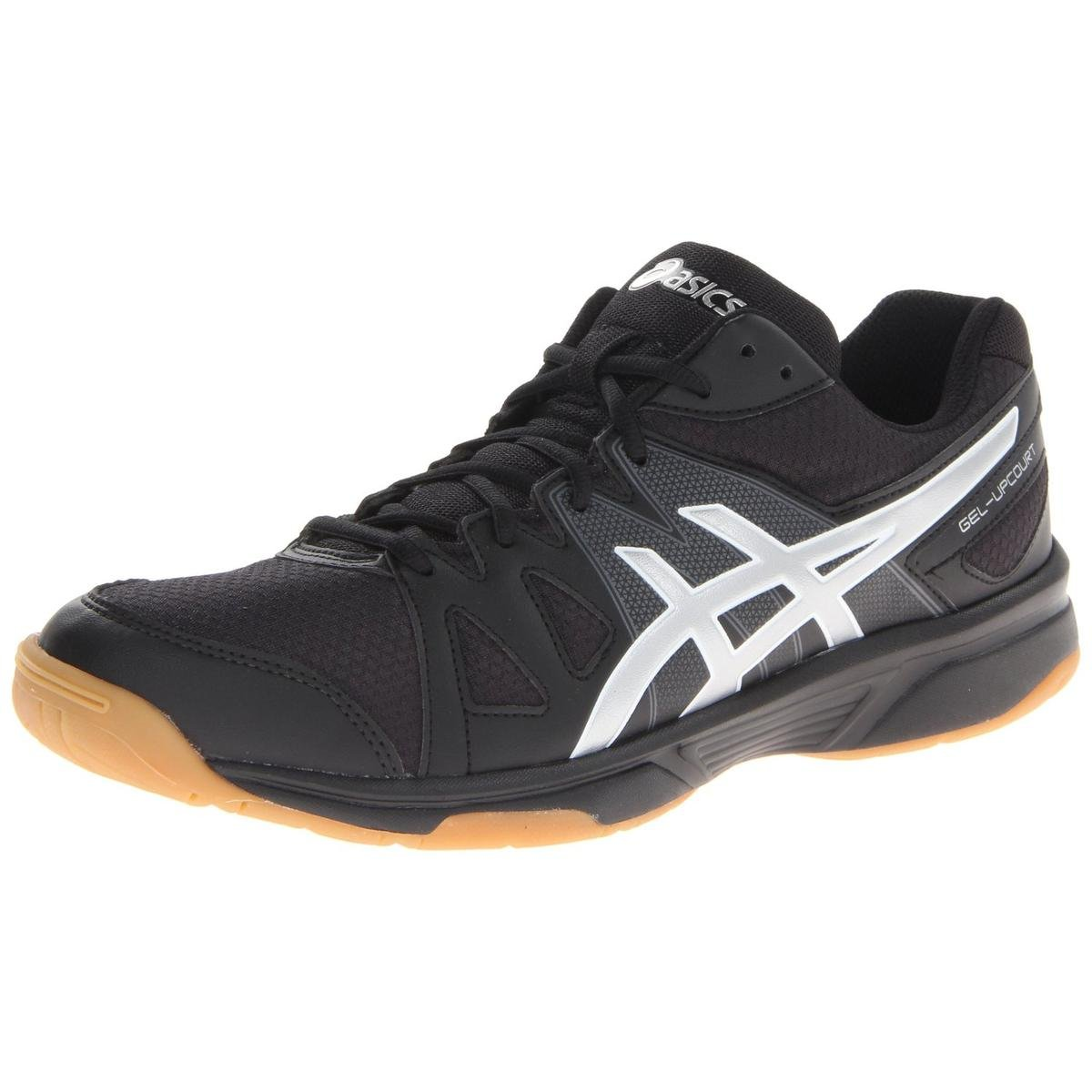 ASICS Men's Gel Upcourt Volley Ball Shoe,Black/Silver,7 M US