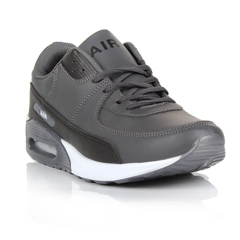 Paramount - Zapatillas de Material Sintético para hombre, gris/negro, 9 UK