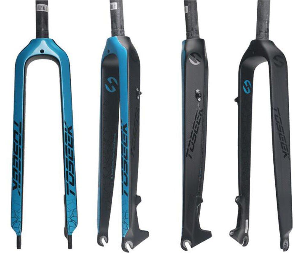 TS-F01 TOSEEK正規品 フォーク カーボンフォーク MTB ディスクブレーキ 26/27.5/29インチ B07D76Q2PQ 26インチ|ブルー ブルー 26インチ