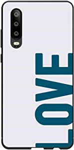 Okteq Case Cover for Huawei P30 Shock Absorbing PC TPU Full Body Drop Protection Cover matte printed - love blue white By Okteq