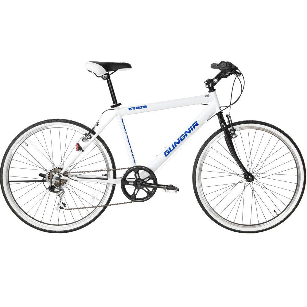 【KYUZO】クロスバイク KZ-107 26インチ(26*1.50HE)シマノ6段変速 自転車 B00HEZ5RP2マリンホワイト