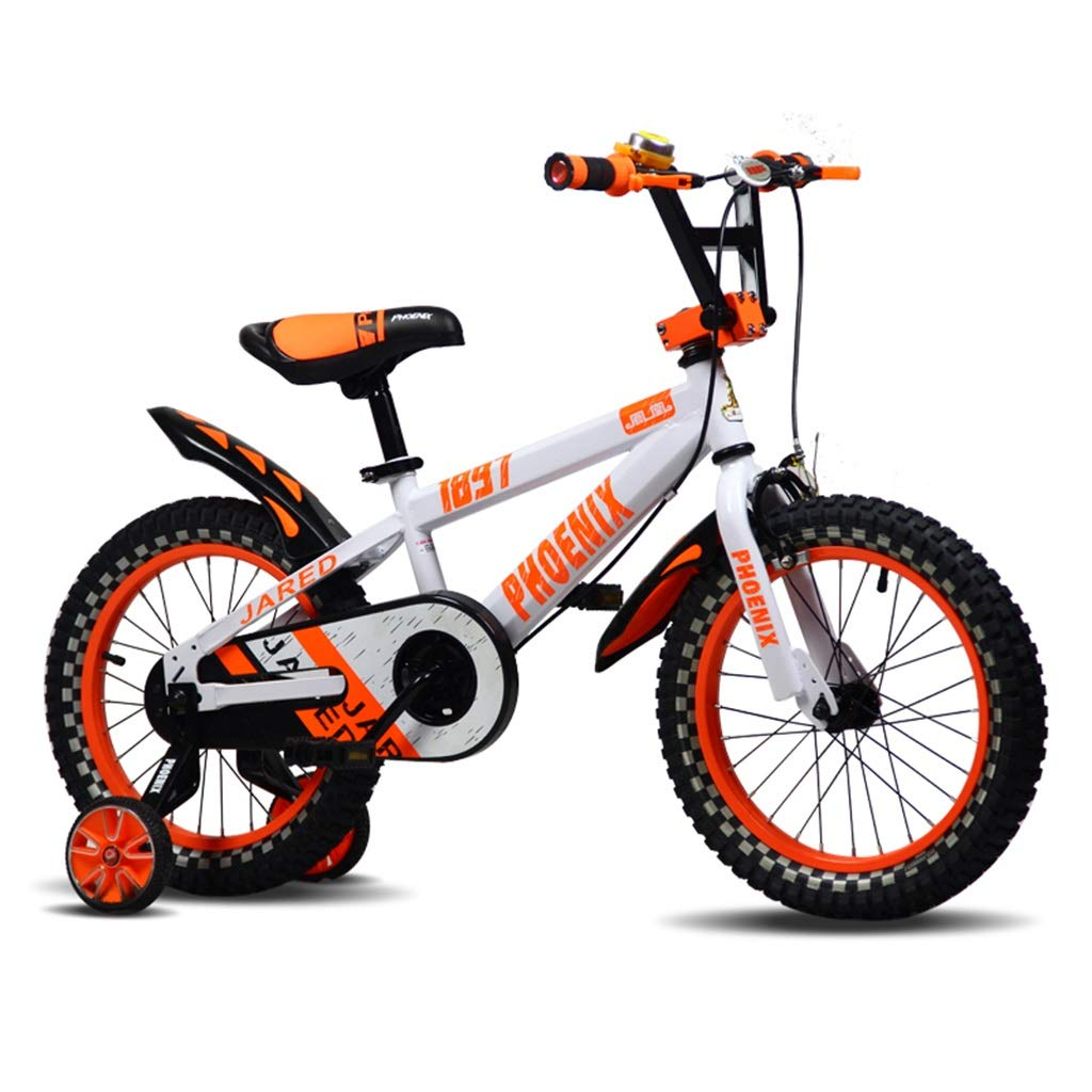 Orange 12inches Kinderfahrräder Mountainbike-Frühlingsfahrrad des Kinderfahrradjungen-Jungen des Fahrradfahrrades der Kinder im Freien im Freien, passend für Kinder gealtert 3-10 (Farbe   Orange, Größe   12inches)