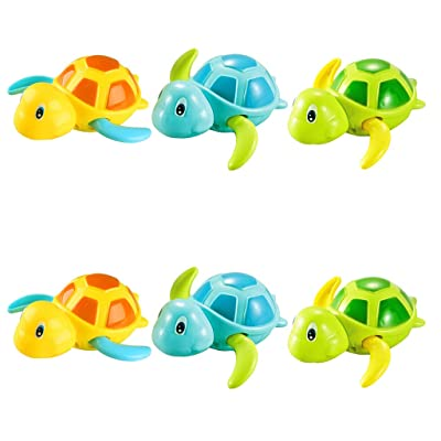Yamart Toys for 4-5 Years Old Baby Boys and Girls, 6Pcs Swimming Turtle Clockwork Toys Bathroom Toys Bathroom Toy Set for Baby: Toys & Games
