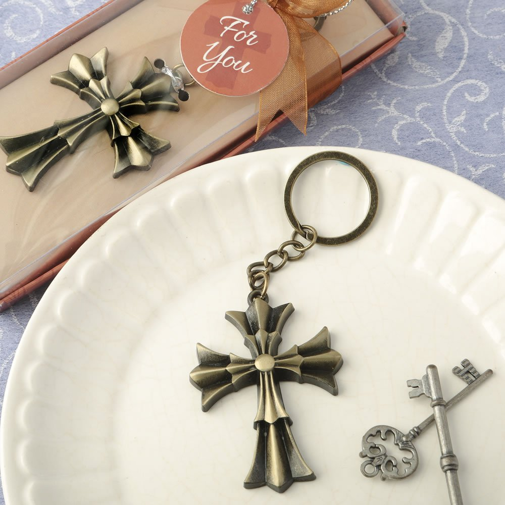 84 Flared Cross Design Key Chains Religious Favors