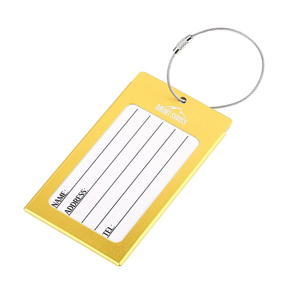 /étiquettes de Valise en m/étal Cadeaux de Voyage Or dor/é Grand /Étiquettes de Bagage pour Cartes de Visite