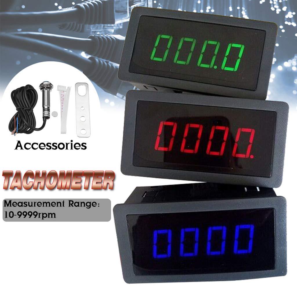 3er Anzeigefarben ausw/ählbar Blau F Fityle Digitale Drehzahlmesser Drehzahlanzeiger Betriebsstundenz/ähler Genauigkeit 0,1 U//Min